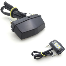 Motorcycle Black Mini 3LED License Plate Light for Honda Kawasaki Yamaha Suzuki