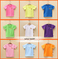 Retail 1-7years short-sleeve T-shirt pure colored baby kids children Clothing girls boys Clothes Infant Garment summer