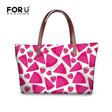 FORUDESIGNS Large Women Messenger Bags Fruits Lemon Print Womens Handbags  Vintage Designer Ladies Shoulder Bag Bolsas 5a78a731702a4