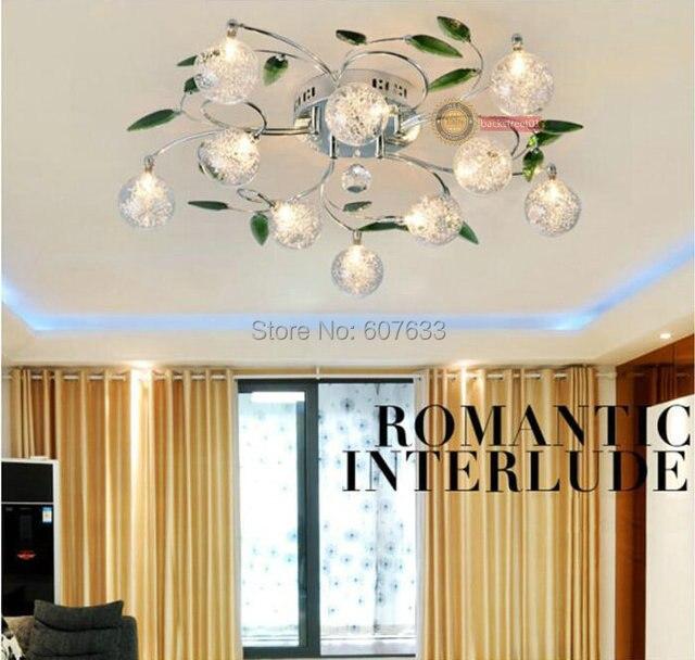 ceiling lamps for living room. free LED BULB Ceiling Lights for Living Room K9 Crystal  Light Green Leaves