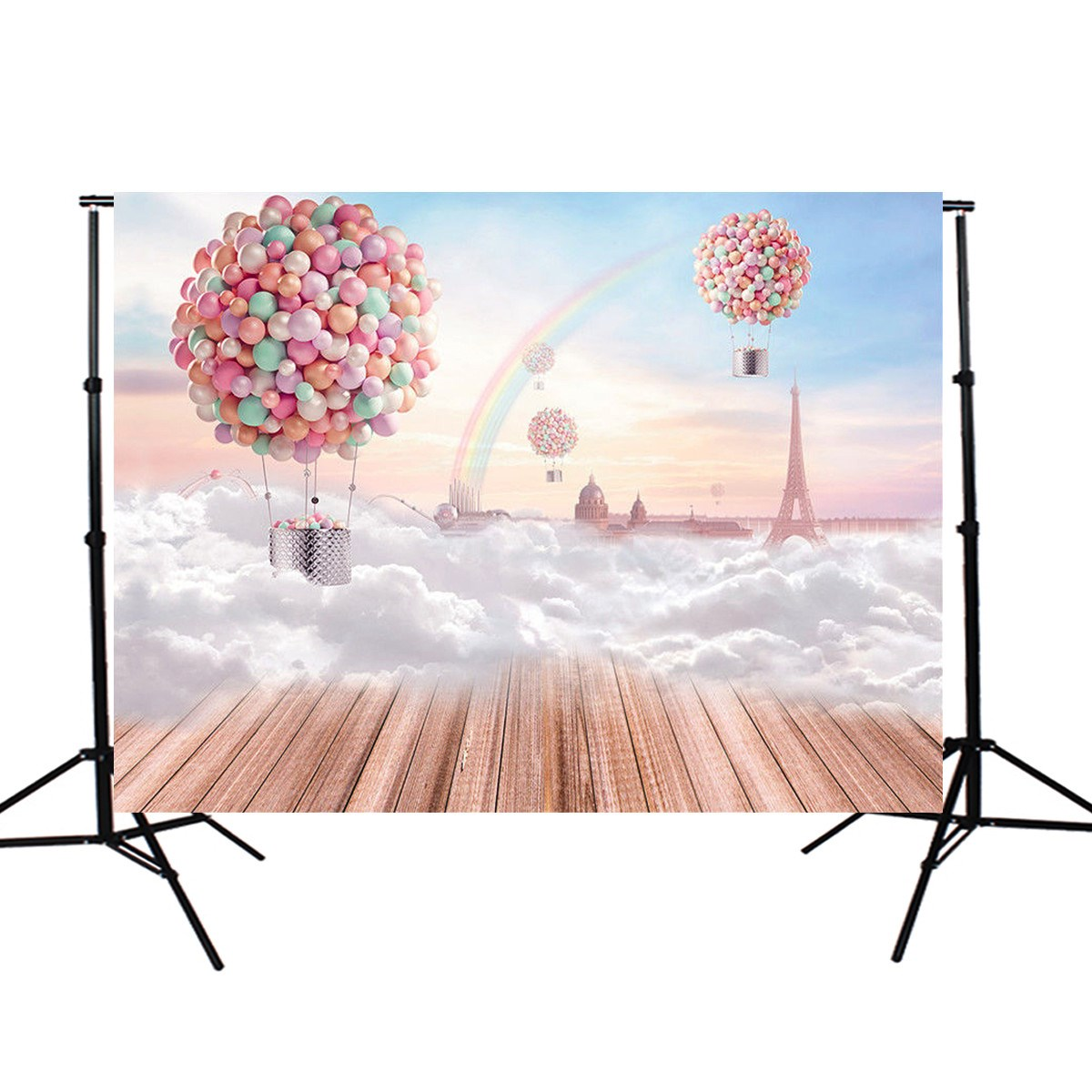 7x5ft Backdrop Balloon Board Rainbow Photography Background Backdrop cloth Studio Photo Props Durable 2.1x1.5m light weight fabric birthday party backdrop balloon and paper craft photography backdrop for photo studio photography background s 2132 c