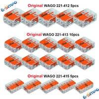 20 pces 221-412 221-413 221-415 100% original fio conector splice kit conector de desconexão rápida fio terminal ce pse ul