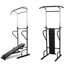 font b Fitness b font Power Tower Dip Station Sit Pull Press Chin Up Bench