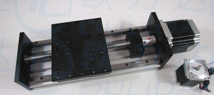 High Precision GX155*150 Ballscrew 1610 600mm Travel Linear Guide+ Nema 23 Stepper Motor CNC Stage Linear Motion Moulde Linear toothed belt drive motorized stepper motor precision guide rail manufacturer guideway