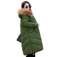 HETOBETO Thicker Big Real Fur collar winter jacket women 2018 New Russia 6XL Plus size women's jackets Hooded Long Coat Female