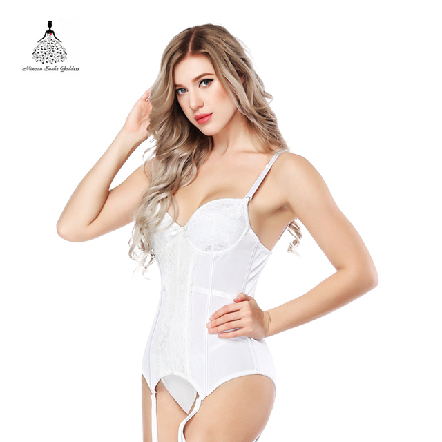 b55a86e0f1e11 Corselet and Bustiers Lingerie Women Corset New Sexy White Lace Bustier  Steampunk Sling Thong Breathable Fabric Chest Binder