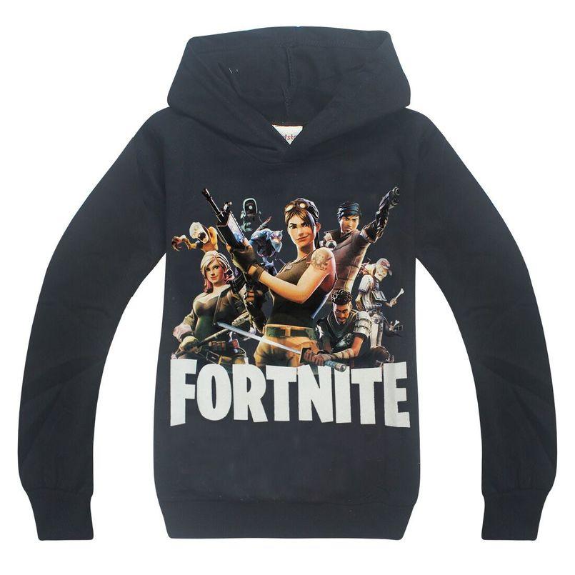 Spring Autumn Children Sweatshirts cartoon Fortnite Cotton Baby Boys Girls Casual Hoodies 6-14 Years Kids Boy&Girl Tops Costume