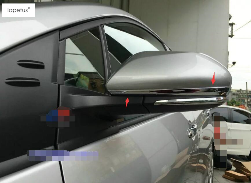 Accessories For Toyota Prius 2016 2017 Outside Door Mirror Protect Strip Streamer Molding Cover Kit Trim 2 Pcs / Set