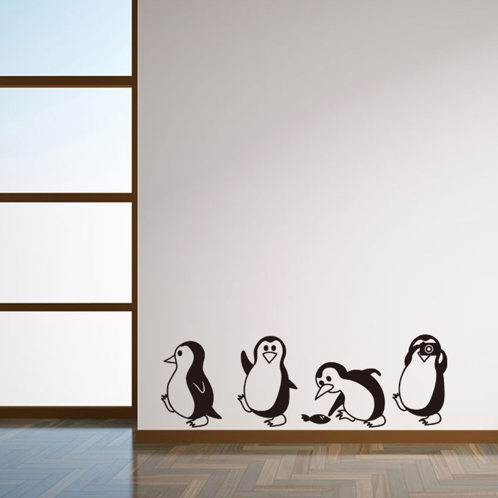 DIY Removable Penguin Wall Stickers Home Decorative Decal Kids Nursery Baby Room
