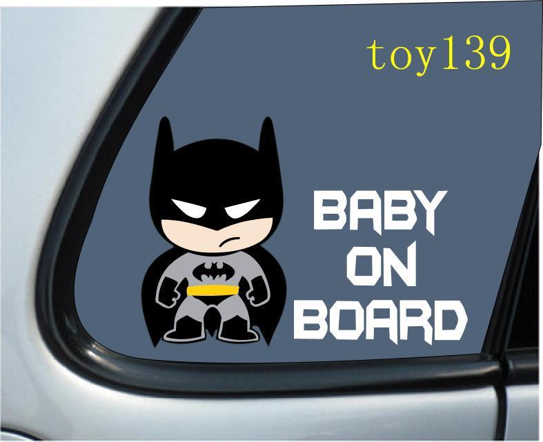 Baby Batman BABY ON BOARD Vinyl Car Decal Sticker  Reflective - Batman vinyl decal stickers
