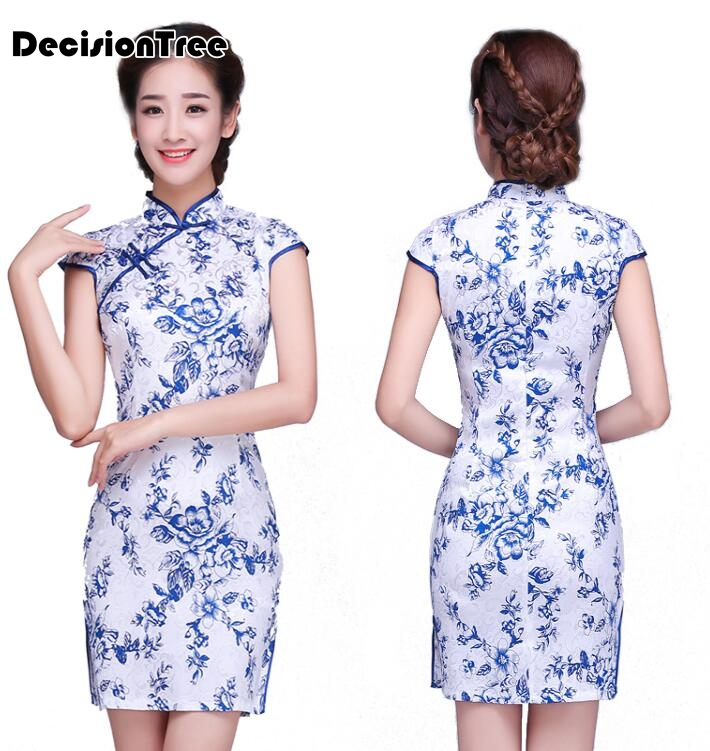 8063c4b76f 2019 kobiet nowej satyna cheongsam qipao suknia chiński orientalne suknie  tradycyjny chiński suknia ślubna retro slim