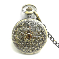 DHL Free Shipping Hot Sale High Quality Bronze Cobweb Real Mechanical Pocket Watch Hollowed Flip Watch