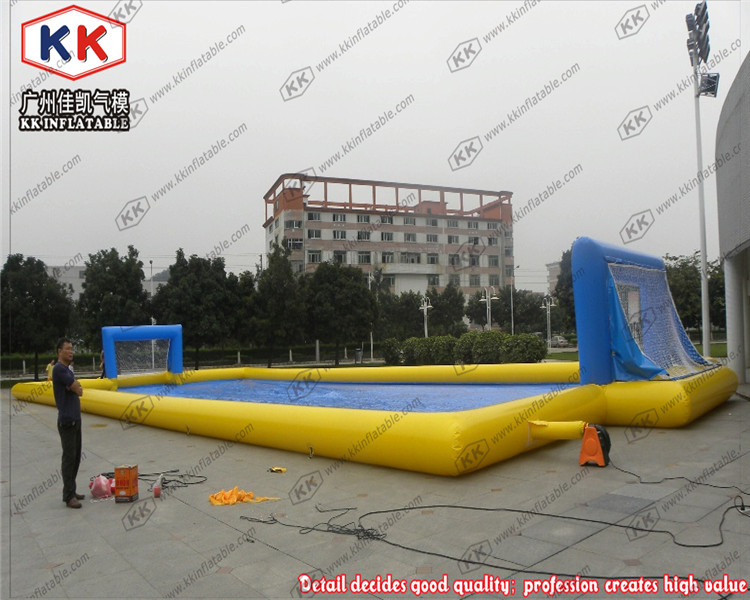 Soap Water Football Field Inflatable Soccer Field for Sale