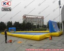 Большой надувной бассейн надувной воды футбола подала