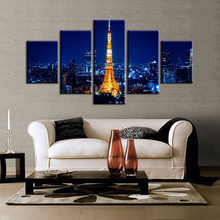5 piece Scenic Tower Series Canvas Painting Wall Art Home Decor Poster Print unframe or framed/XC-city-22