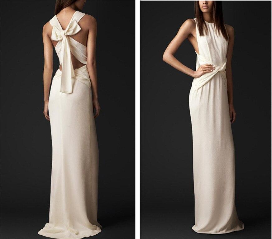 free shipping Cheap robe de soiree 2019 new fashion hot sexy backless bow vestido de festa longo party gown   bridesmaid     dress