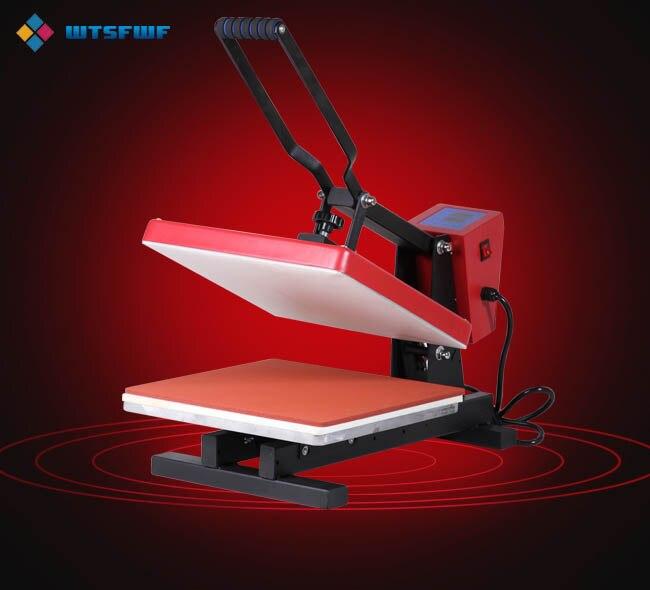 Wtsfwf 2D 38*38 CENTÍMETROS Europeia Calor Máquina Da Imprensa De Impressão Casos de Almofadas de Impressão Da Impressora De Transferência Térmica para T-shirts