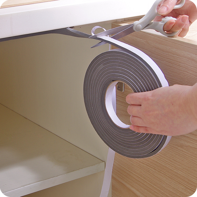 5M Self-adhesive window sealing strip car door noise insulation Rubber dusting sealing tape Window Accessories Viscose