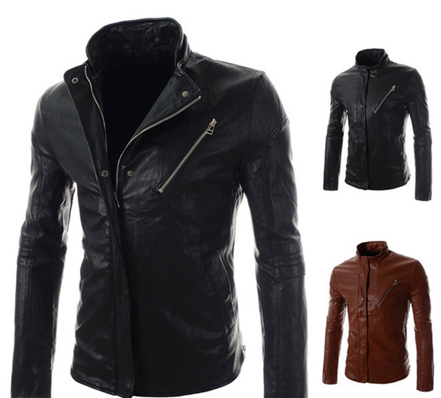 2016 New  Hot Selling Slim Motor Punk Men Jackets Coats/desinger Zipper PU Leather Jackets Men/Casual Tops For Men Clothing