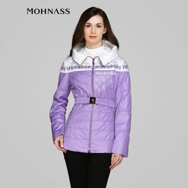 MOHNASS 2015 новинка весна женский синтепон с капюшоном  по фигуре модный  пальто высокое качество бесплатная доставка MC-3B7440-1