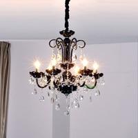 Modern High Quality Black K9 Crystal Chandelier Lustre Crystal Chandeliers Light De Cristal LED Hand Blown
