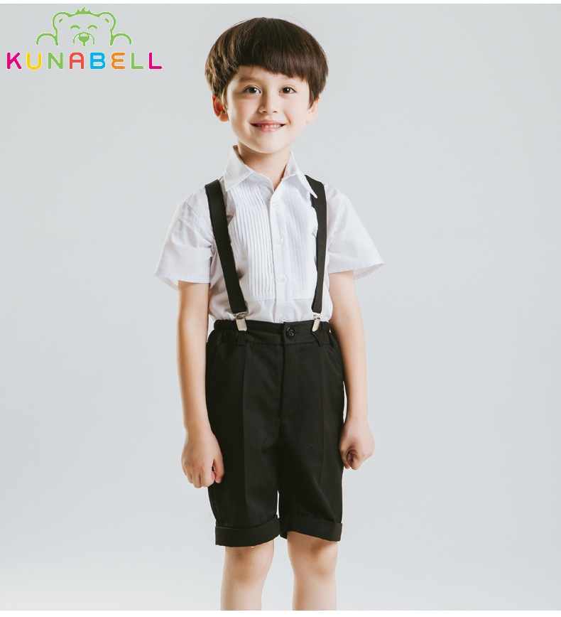 Brand Flower Boys Summer Short Wedding Overall Suits with Bowtie Formal School Performance Suits Birthday Dress Bib Pant D28 organizational culture and school performance