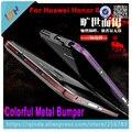 Para huawei honor 8 bumper venda quente colorido 3d estereoscópico projeto luphie de metal no vidro traseiro para huawei honor 8 frete grátis