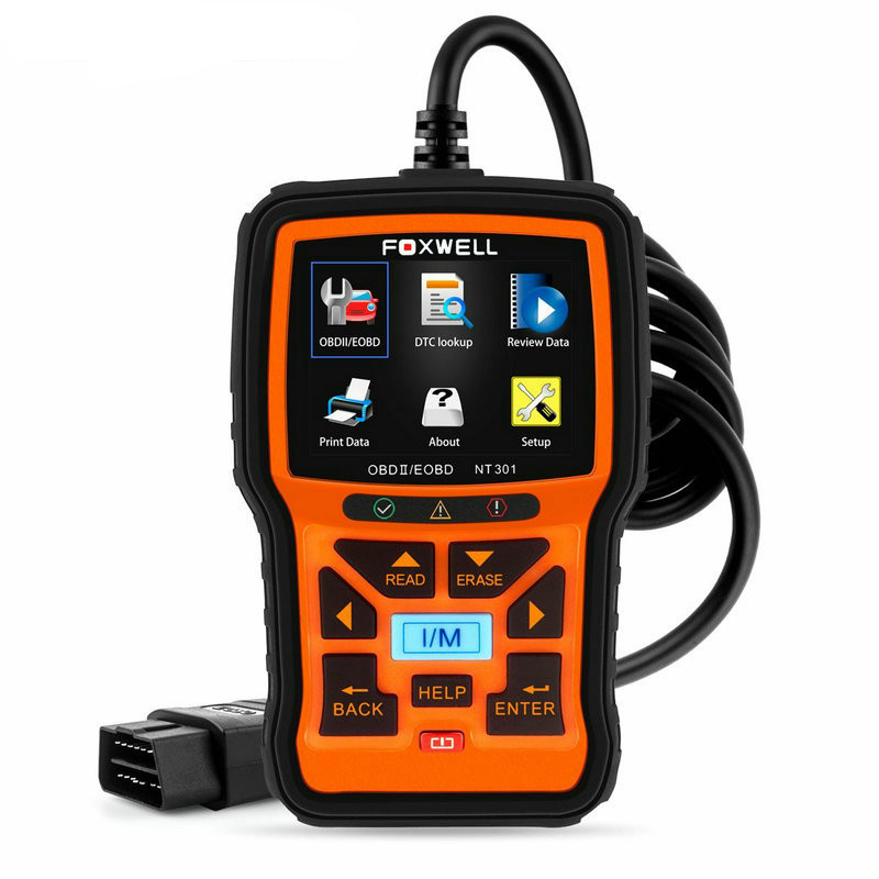 Foxwell NT301 OBD OBD2 Engine Universal Car Code Reader Diagnostic Tool Multi-languages OBD 2 Scan Tool odb 2 Automotive Scanner universal obd2 auto scanner foxwell nt301 auto diagnostic tool engine scanner fault code reader with o2 sensor same as al519