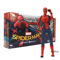 SHFiguarts Spider Man Homecoming Tamarshii Option Act Wall Spiderman PVC Action Figure Collectible Model Toy 14cm
