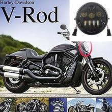 2017 Mới Đèn Pha Xe Máy Cho Harley V Cần V Cần VROD VRSCA VRSC Đèn Pha VRSC/V ROD LED Xe Máy đèn Pha