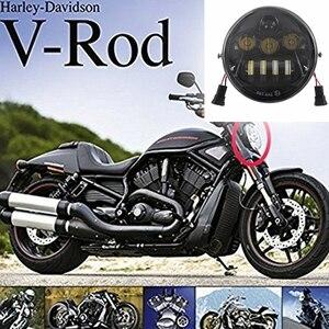 Image 1 - Faro delantero de motocicleta para Harley V ROD, VROD VRSCA VRSC, Faro de motocicleta LED VRSC/V ROD, novedad de 2017