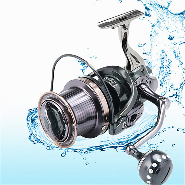 Fishing Reel Lure CTS9000/10000/12000 Series Full Metal Spinning Reel Fishing Tackle 4.0: 1 14+1BB Drag System Carp Fishing Gear