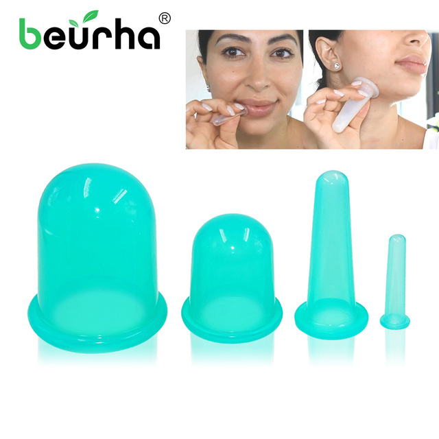 1 pc Vacuum Body Massage Helper Anti Cellulite Silicone Cupping Cups Family Health Care Massage Face Neck Medical Pump Suction