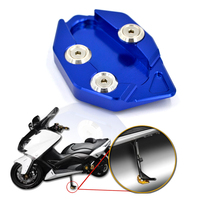 Bjmoto Motorcycle CNC Side Stick Stand Plate Enlarge Extension Kickstand For Yamaha TMAX 530 2012 2013