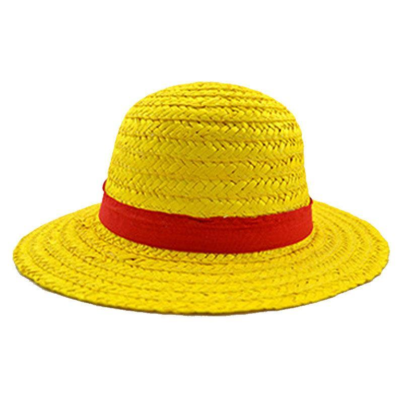 One Piece Luffy Straw hat Performance animation COSPLAY hat-in Sun Hats from Apparel Accessories ...