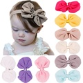 Hooyi Butterfly Knot Baby Girls Hairbands Kids Hair Clip Solid Pure Color Headband Children Hair Bands <font><b>Headwear</b></font> H18