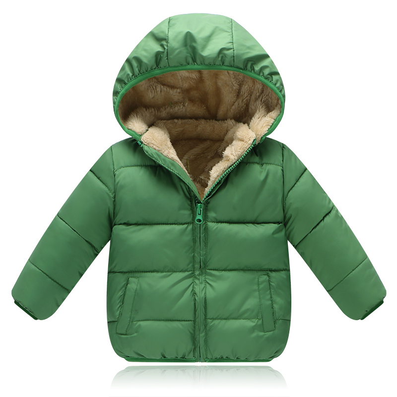 New Kids Girls Boys Winter Clothing Thickening Down Parkas Wadded Jacket Outerwear Fleece Cotton-Padded Coat 2 3 4 5 years old 4 russia 2016 children outerwear baby girl winter wadded jacket girl warm thickening parkas kids fashion cotton padded coat jacket