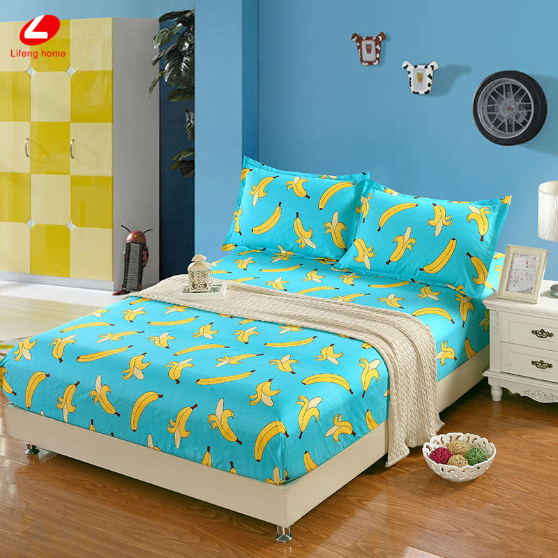 Home textile bed sheet sheet flower mattress cover printing bed sheet elastic rubber bedclothes 180*200cm summer bedspread band 32