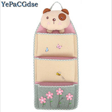 3D small Bear Multilayer Cloth Storage Hanging Bag Door Sundries Organizer A good helper to save more space creat