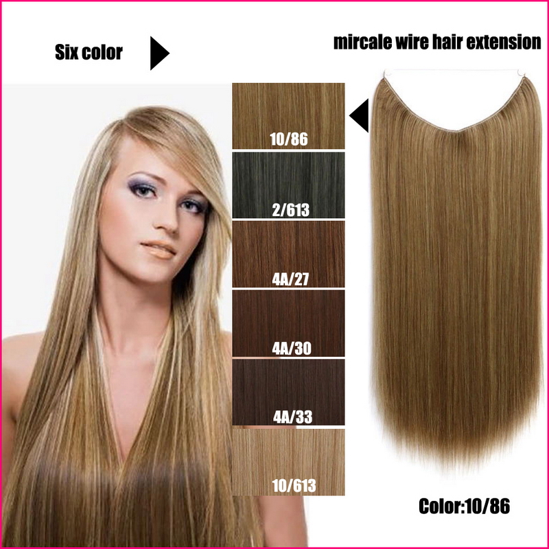 flip in heat resistant synthetic straight hair extension miracle hair wire 22 us132. Black Bedroom Furniture Sets. Home Design Ideas