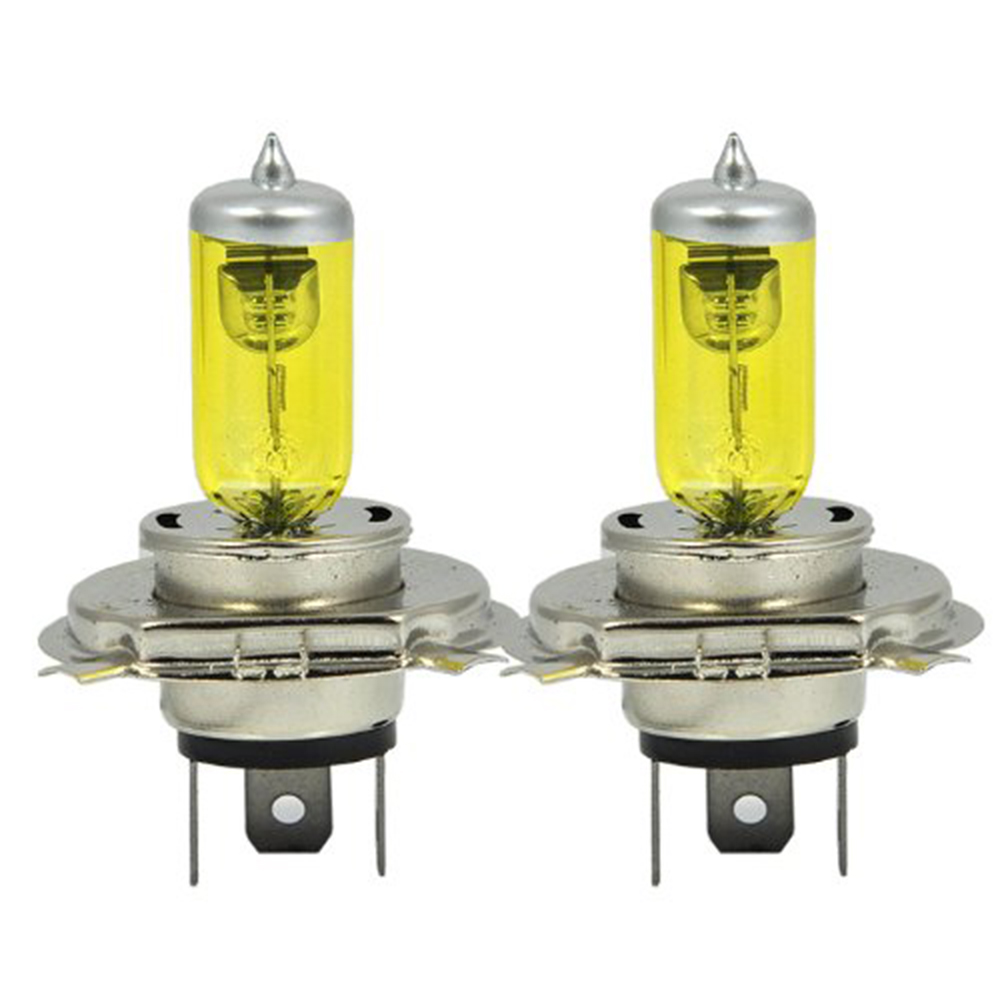 2 X H4 9003 HB2 P43T 12V 3000K 55W Golden Yellow Auto Car HOD Halogen Bulbs Xenon Lamps Ultra Upgrade Headlight Bulbs