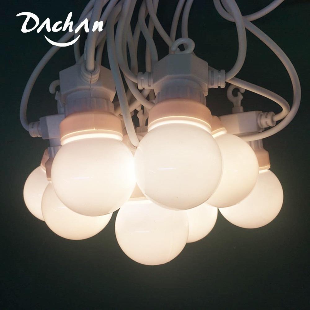 IP65 42ft LED G50 Festoon Globe Bulb String Light Outdoor White Light String For Waterproof Garland