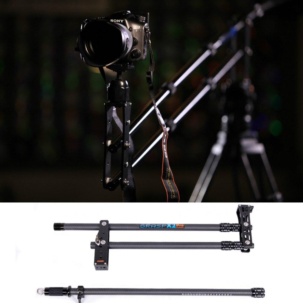 DSLR Mini potence en fibre de carbone potence Portable pour caméra DSLR 5D2/5D3/GH2/D800 livraison gratuite