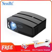 Newpal Mini Projector 3D Projector Home Cinema Android WIFI 1800Lumen 720P Beamer LED Proyector GP80 UP Brazil RussiaBracket