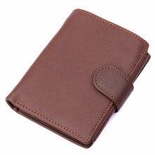 J.M.D Genuine Leather Wallet Men ID Card Case Fold Burse 8149-