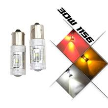 Canbus 30 Вт (6×5 Вт) 1156 BA15S P21W 382 обратный тормозные DRL свет супер яркий CREE чип светодиодные лампы canbus Бесплатная ошибка