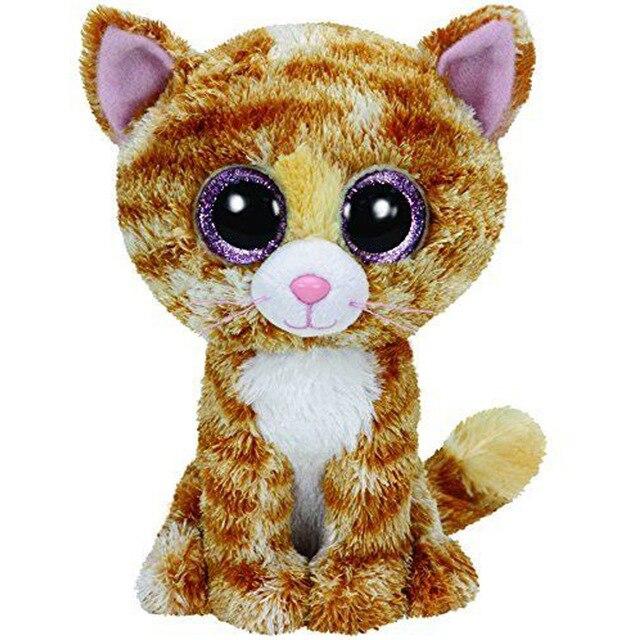 "Ty Beanie Boos 6""15cm Tabitha the Cat Plush Medium Soft Big-eyed Stuffed Animal Collection Doll Toy"