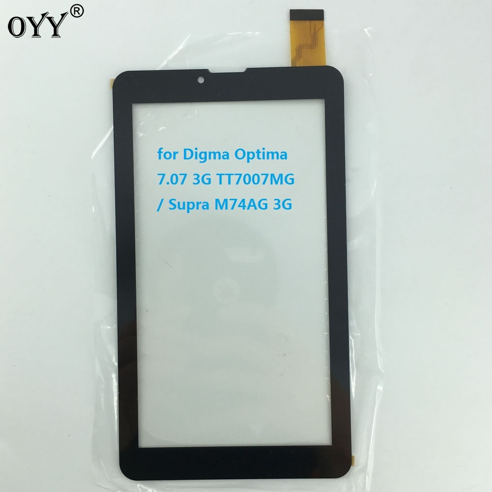 7'' inch capacitive touch screen capacitance panel digitizer glass for Digma Optima 7.07 3G TT7007MG / Supra M74AG 3G tablet pc 10 1inch for point of view mobii wintab 1000w 3g tablet pc capacitive touch screen glass digitizer panel