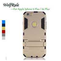 WolfRule Anti-Knock For Case iphone 6s Plus Cover Soft Silicon & Plastic Case For iphone 6s Plus Case For Funda Apple 6s Plus