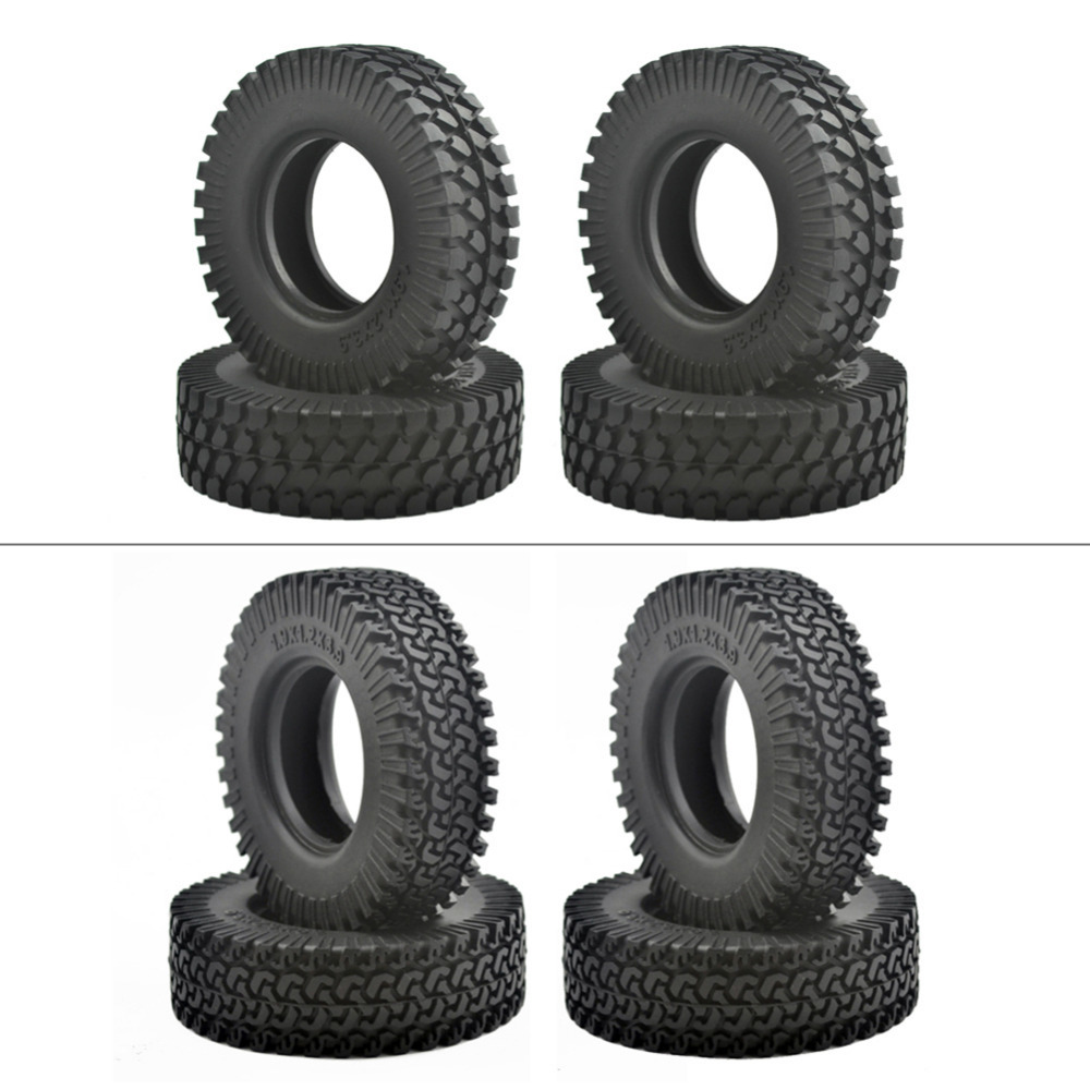 New 4PCS 1.9 Rubber Tyre / Wheel Tires for 1:10 RC Rock Crawler Axial SCX10 90046 Tamiya CC01 RC4WD D90 D110 drop shipping 4pcs 1 9 rubber tires
